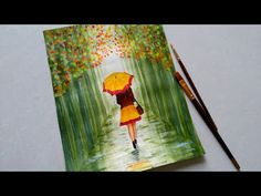 best=Easy Rainy season scenery drawing for beginners Green forest landscape scenery Girl with umbrel Ball Gown Prom Drawing Scenery, Scenery Paintings, Easy Paintings, Painting Videos, Love Birds Painting, Painting Of Girl, Lily Pond, Abstract Landscape Painting, Landscape Paintings