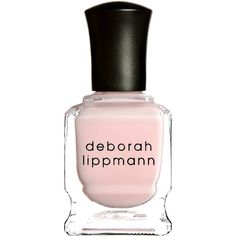 Deborah Lippmann Women's Nail Polish ($18) ❤ liked on Polyvore featuring beauty products, nail care, nail polish, nail, light pink, deborah lippmann, deborah lippmann nail color, deborah lippmann nail lacquer and deborah lippmann nail polish