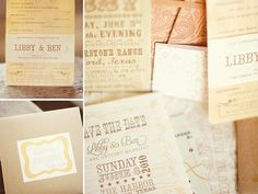 soft rustic wedding invitations