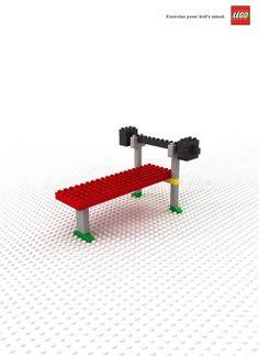 "Lego ""exercise your kid's mind"" #design #lego #exercise"
