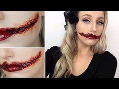 The Black Dahlia Slit Mouth SFX Tutorial - AMERICAN HORROR STORY SERIES - YouTube