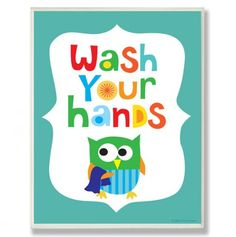 Wash Your Hands Bathroom Wall Art.