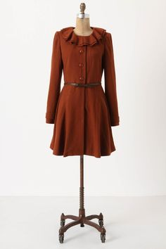 Oxidized Ruffle Coat, Anthropologie. My expensive taste can be very frustrating.