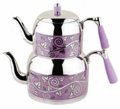 Armine Desenli Mini Çaydanlık (1,2 lt – 0,7 lt) - Güven Evim