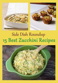 Zucchini Side Dish Recipes { thelovebugsblog.blogspot.com }