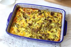 Afrikaanse bobotie - Lekker en Simpel A Food, Food And Drink, I Want To Eat, Lasagna, Macaroni And Cheese, Foodies, Food Porn, Favorite Recipes, Lunch