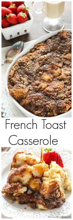 Overnight French Toast Casserole is SO EASY AND YUMMY!