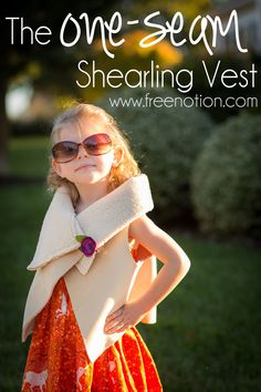 {Tutorial} The One-Seam Shearling Vest; Adapting the Free Pattern from Lil Luxe Creations — Free Notion Sewing Patterns For Kids, Sewing Projects For Kids, Sewing For Kids, Pattern Sewing, Free Sewing, Sewing Ideas, Shearling Vest, Sewing Clothes, Sewing Tutorials