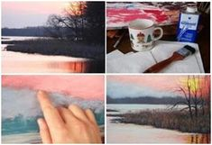 Free Pastel Landscape Painting Lesson for Beginners - Follow a step-by-step tutorial by artist Christine Kane at ArtInstructionBlog.com to see how to create a stunning landscape and sunset from a reference photo.