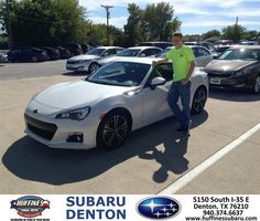 #HappyAnniversary to Michelle Walters on your 2013 #Subaru #Brz from Everyone at Huffines Subaru Denton!