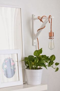 shelf bracket to hang pendant light More