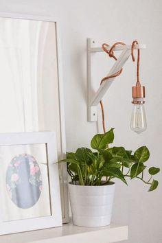 shelf bracket to hang pendant light