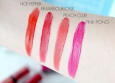 Boujoirs Rouge Edition Velvet Lipstick - Hot Pepper, Frambourjoise, Peach Club, Ping Pong
