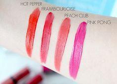Boujoirs Rouge Edition Velvet Lipstick - Hot Pepper, Frambourjoise, Peach Club, Ping Pong