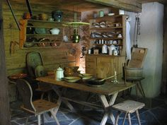 Maienfeld: Heidi Haus - Another! Rustic Furniture, Switzerland, Places To Travel, Cottage, Interior, Fern Gully, Bucket, Museum, Home Decor