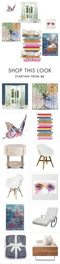 """artsy room"" by madelinerich ❤ liked on Polyvore featuring Bluebellgray, Jane Lee McCracken, nuLOOM and UGG"