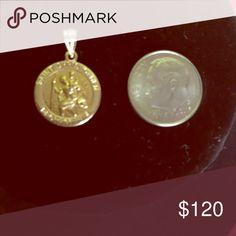 14K Gold Saint Christopher Medal Pre-owned - 14K Gold Saint Christopher Medal - almost new Jewelry