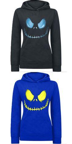 Womens hooded sweatshirt Fashion Cartoon Demon Printed Sportwear casual jogging suits tracksuits Autumn 2016 plus size