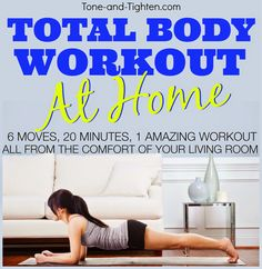 Total Body Workout you can do AT HOME! Tone-and-Tighten.com