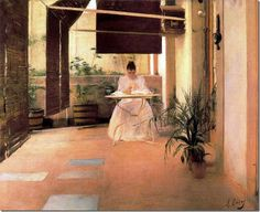 ramon casas i carbo_Un patio_1889
