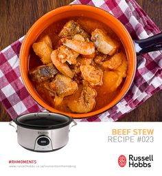 "No dish has ever seemed so perfect for a winter's day than a hearty Beef Stew. During the winter storms it even kept Britain warm.  Try out hearty beef stew. Ingredients: 2-3 lbs. beef stew meat cut into 1"" pieces, 3 med Potatoes peeled & cut into cubes, 4 med onions cut into eights, 3 stalks celery sliced, 1tsp salt, 1/4 tsp pepper, 1/4 tsp basil, 1/4 tsp thyme, 1/4 tsp oregano, 1 bay leaf, *Beef broth or bouillon to cover Hearty Beef Stew, Beef Stew Meat, Beef Broth, Peeling Potatoes, Le Chef, Pot Roast, Thai Red Curry, Stuffed Peppers, Dishes"
