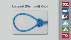 Animation shows how to tie a Lanyard (Diamond) Knot.   From the world's #1 knot site - Animated Knots by Grog.
