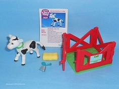 LPS Vintage Littlest Pet Shop - 1994 Zoo Play with Me Pets Baby Calf - RARE!