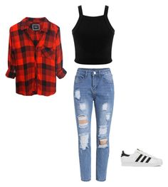 """""""Untitled #32"""" by goodvibez13 on Polyvore featuring Miss Selfridge, Rails, adidas, women's clothing, women, female, woman, misses and juniors"""