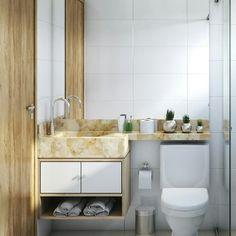 Marble Bathroom Counter, Guest Bath, Double Vanity, Humor, Small Shower Room, Bathroom Furniture, Simple Bathroom, Plants, Humour