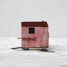 fishing hut sleigh