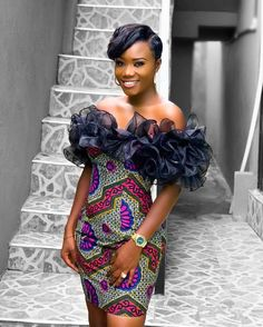 Cute African Print Dresses : Styles Ideas That Will Make You Look More BeautifulHello ladies. These are cute African print dresses inspiration that will leave Short Ankara Dresses, Latest Ankara Gown, African Lace Dresses, Nigerian Dress Styles, Ankara Gown Styles, Ankara Gowns, Couples African Outfits, African Attire, African Wear