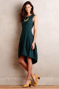 I want this dress for Fall with mustard colored shoes!!