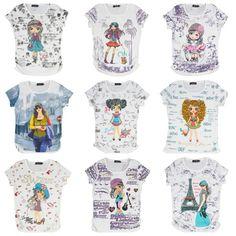 Coole glitter t-shirts met strass steentjes! Www.oxximoxxi.nl