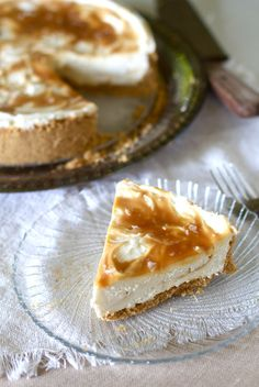 Salted Caramel No Bake Cheesecake