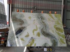 Fantasy Green Marble Slabs New Arrival🌹🌹🌹 Marble Slabs, Marble Stones, Marble Interior, Green Marble, Neutral Tones, Soft Colors, Fantasy, Soothing Colors, Fantasy Books