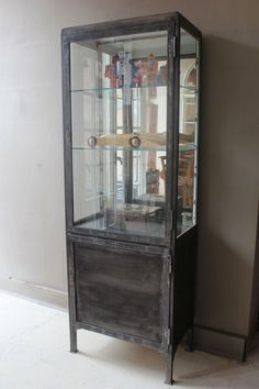 FRENCH TALL MEDICAL CABINET