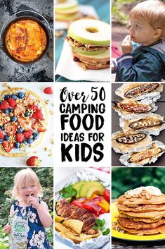 The best camping food for kids, from breakfast to dinner & snacks in between. Plus ways to encourage healthy eating & a free printable camping meal plan! #camping #food #kids #kidfriendly #kidfood #campingfood #campfood #recipe #outdoor #healthyrecipes #healthyfood