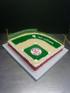Baseball Field Cake