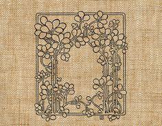 Art Nouveau Leafy Floral Vine Border Art Digital by TheMadModder, $1.00