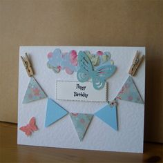 Happy Birthday Bunting Card £2.50 by Aunty Joan Crafts