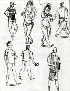 how to draw figures | sketchbook assignment # 28- draw a people