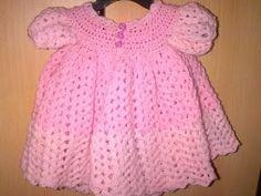 ▶ how to crochet baby dress - YouTube