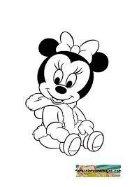 Minnie mouse bebe para colorear y 900 898 dibujos para pintar pinterest - Minnie y mickey bebes para colorear ...