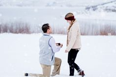 This sunrise snow proposal has us swooning!