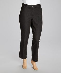 Take a look at this Black Straight-Leg Jeans - Plus by Zac & Rachel on #zulily today!