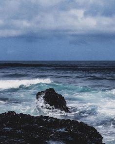 #water #ocean #beach #waves #rocks #clouds #nature #sky #rough #danger #storm #thunder Beach Waves, Ocean Beach, Water Bender, No Wave, Thunder, Rocks, Clouds, Sky, Mountains