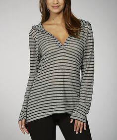 Stripe Hooded Top.