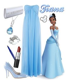 Tiana by fashion-from-disney on Polyvore featuring polyvore, fashion, style, Amalie & Amber, Salvatore Ferragamo, Rainbow Club, City Style, Lord & Taylor, Smashbox, M.A.C, Disney and clothing