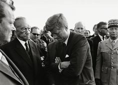 John F. Kennedy in Berlin, June 26, 1963. This photo was taken by Jochen Blume shortly after Kennedy's arrival.
