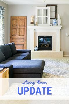 She shares step by step how she is updating her living room, with current sources!
